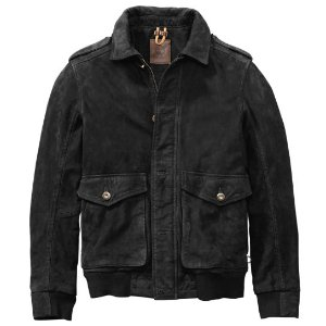Timberland | Men's Tenon Leather Bomber Jacket