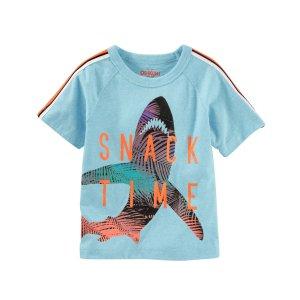 Toddler Boy Raglan Shark Tee | OshKosh.com