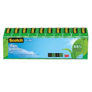 Scotch 8% Recycled Magic 812 Greener Tape, 3/4