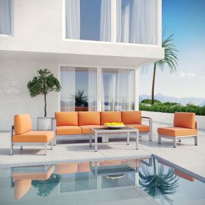Shore 5-piece Outdoor Patio Aluminum Sectional Sofa Set | Overstock.com Shopping - The Best Deals on Sofas, Chairs & Sectionals