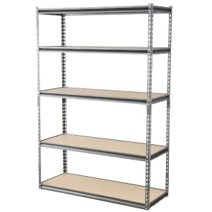 Muscle Rack 48 in. W x 18 in. D x 72 in. H 5-Shelf Z-Beam Boltless Steel Shelving Unit in Silver Vein-UR481872PB5P-SV - The Home Depot