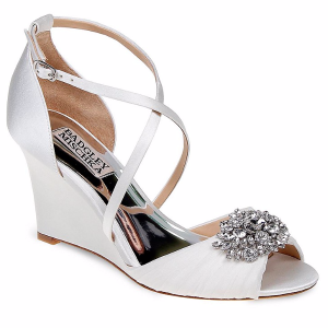 Tacey Embellished Crisscross Wedge Sandals