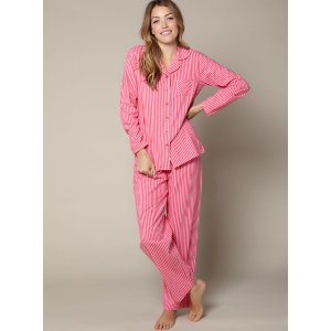 Stripe Pyjamas In A Bag - Pink Mix | Boux Avenue