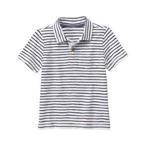 Toddler Boys Gym Navy Stripe Pocket Polo Shirt by Gymboree