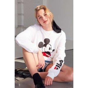 FILA+ UO Mickey Long Sleeve Disney Tee | Urban Outfitters