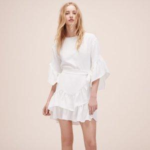 RAHIME Short dress with frills - Dresses - Maje.com