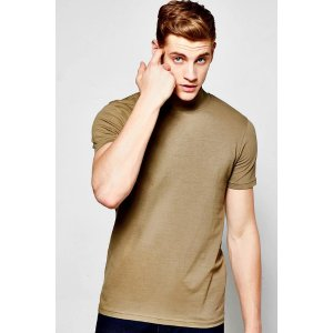 Short Sleeve Muscle Fit Turtle Neck T-Shirt
