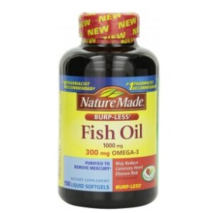 Nature Made Fish Oil, Burp-Less, 1000 mg, Liquid Softgels, 150 softgels