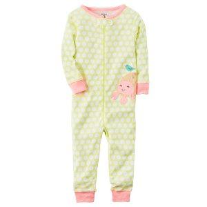 Baby Girl 1-Piece Snug Fit Neon Cotton PJs | Carters.com