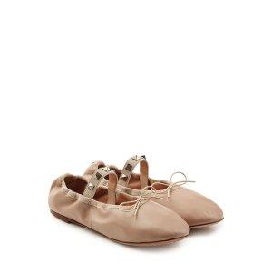 Rockstud Leather Ballerinas - Valentino | WOMEN | US STYLEBOP.COM