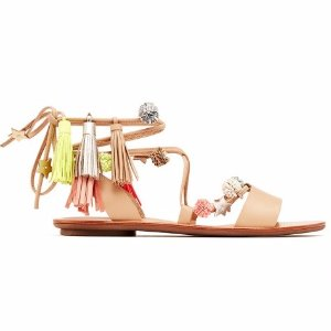 Loeffler Randall | Suze Ankle Wrap Sandal in Wheat | Loeffler Randall