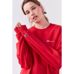 Champion + UO Mini Logo Crew-Neck Sweatshirt | Urban Outfitters