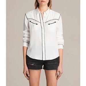 ALLSAINTS US: Womens Adrienne Shirt (Chalk White)