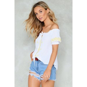 Sew Be It Off-the-Shoulder Top   Shop Clothes at Nasty Gal!