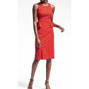 Bi-Stretch Side-Peplum Sheath