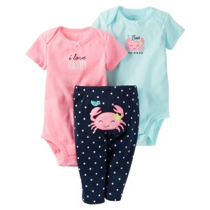 Baby Girl 3-Piece Little Character Set | Carters.com