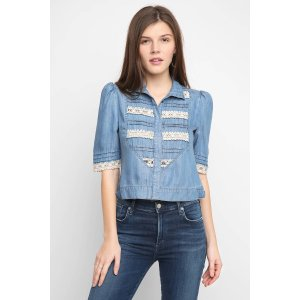 Plenty by Tracy Reese Victorian & Lace Button Down Top | South Moon Under