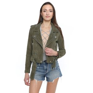 Blank Real Suede Moto Jacket | South Moon Under