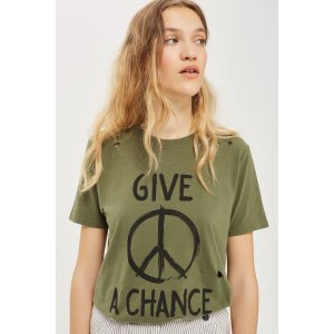 Give Piece A Chance T-Shirt by And Finally - Topshop USA