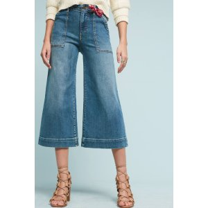 Pilcro Utility High-Rise Cropped Wide-Leg Jeans | Anthropologie