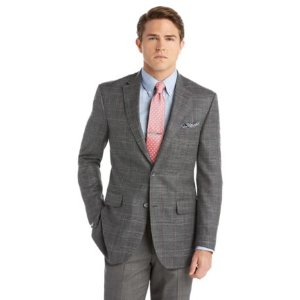 Signature Tailored Fit 2-Button Wool Sportcoat Big and Tall CLEARANCE