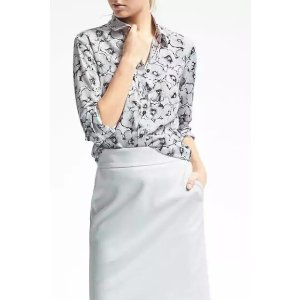 Easy Care Dillon-Fit Floral Blouse