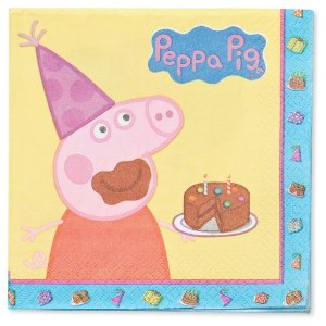 16ct Peppa Pig Lunch Napkins : Target