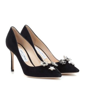 Jimmy Choo Jasmine 85 pumps with crystal buttons