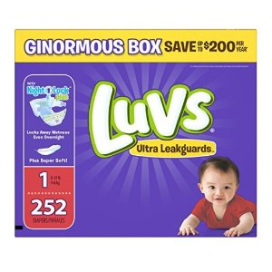 $13.58Luvs Ultra Leakguards Newborn Diapers Size 1, 252 Count