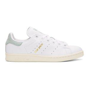 adidas Originals x Pharrell Williams - White & Green Stan Smith Sneakers