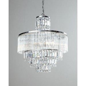 Designer Cords Rossborough 8-Light Crystal Chandelier & Cord Cover