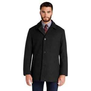 Traveler Collection Traditional 3/4 Length Reversible Coat CLEARANCE - Outerwear   Jos A Bank