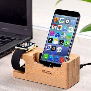$15.99Tendak 手机+Apple Watch 二合一竹制充电器底座 带3个USB插口