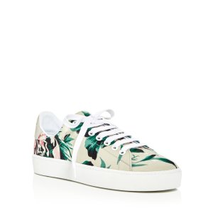 Burberry Westford Floral Lace Up Platform Sneakers | Bloomingdale's