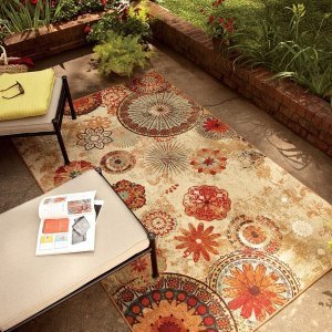 Mohawk Home Printed Indoor/ Outdoor Alexa Medallion Area Rug (7'6 x 10') - Free Shipping Today - Overstock.com - 15275159