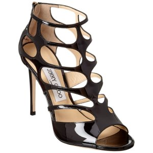 Jimmy Choo Jimmy Choo Ren 100 Patent Sandal | Bluefly.Com