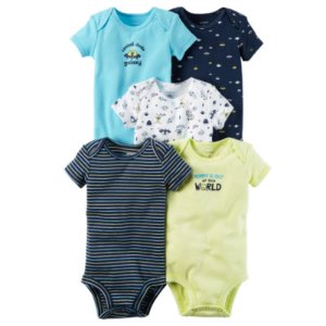 Carter's Little Baby Basics Boy 5-Pack Short Sleeve Bodysuits - JCPenney