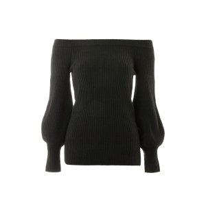 Cashmere Blend Ribbed Bardot Jumper - New In Fashion - New In