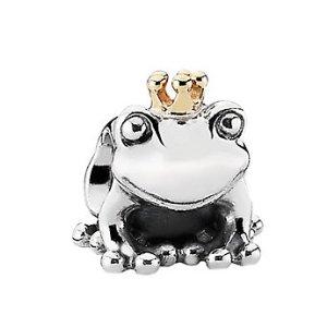 PANDORA 14K & Silver Frog Prince Charm