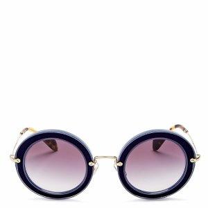 Miu Miu Combo Round Sunglasses, 49mm | Bloomingdale's