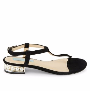 Evie T-Strap Suede Thong Sandals
