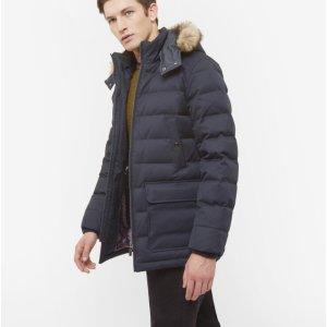 Down filled parka - Navy | Jackets & Coats | Ted Baker