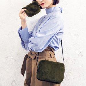 $7.62 / RMB50 直邮中美IN RED 女性时尚杂志 送BEAMS LIGHTS 毛绒侧肩包+小卡包