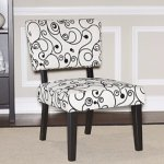 Linon Home Decor Taylor Accent Chair, White Black Circles