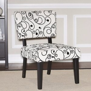 $49 (Orig$87.63)Linon Home Decor Taylor Accent Chair, White Black Circles