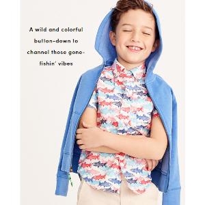 Boys' printed short-sleeve washed shirt : short sleeve | J.Crew Factory