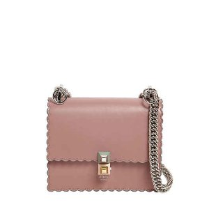 SMALL KAN I SCALLOPED LEATHER BAG