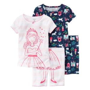 Toddler Girl 4-Piece Snug Fit Cotton PJs | Carters.com