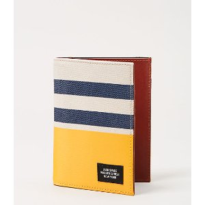 Industrial Canvas Stripes and Dipped Passport Holder Wallet - JackSpade
