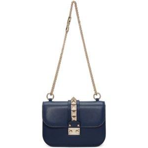 Blue Valentino Garavani Small Lock Bag